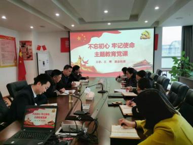 不忘初心、牢记使命,全面推动企业高质量发展——市担保公司副总经理王辉讲党课
